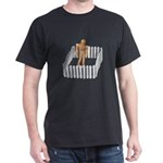 Isolated in White Picket Fence Dark T-Shirt