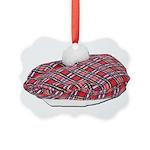 Plaid Beret Picture Ornament