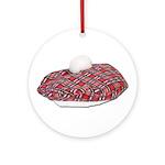 Plaid Beret Ornament (Round)