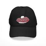 Plaid Beret Black Cap