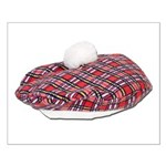 Plaid Beret Small Poster