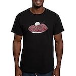 Plaid Beret Men's Fitted T-Shirt (dark)