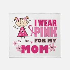 Wear Pink 4 Mom Throw Blanket