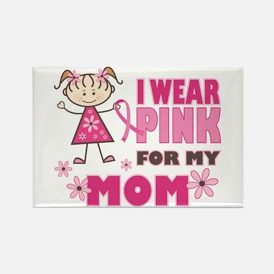 Wear Pink 4 Mom Rectangle Magnet