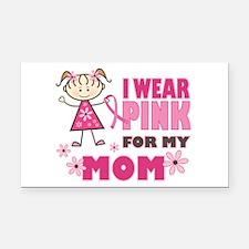 Wear Pink 4 Mom Rectangle Car Magnet