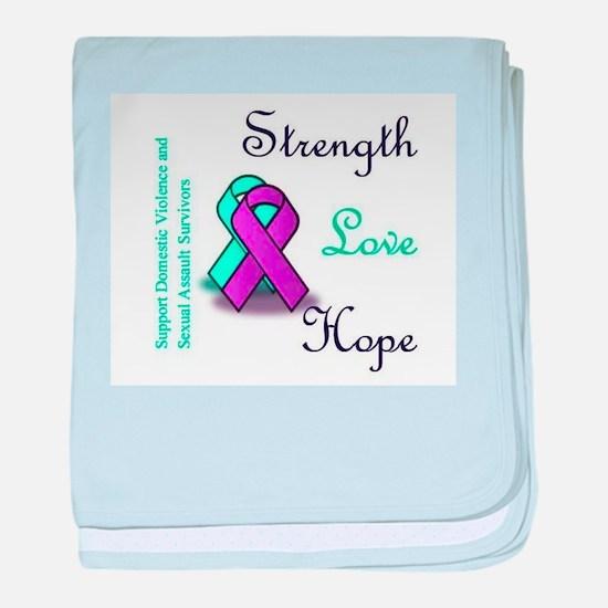 Strength Love Hope baby blanket