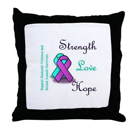 Strength Love Hope Throw Pillow