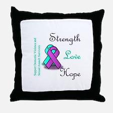 Strength Love Hope Throw Pillow