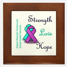 Strength Love Hope Framed Tile