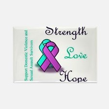 Strength Love Hope Rectangle Magnet