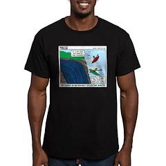 Kayaking Adventure Men's Fitted T-Shirt (dark)