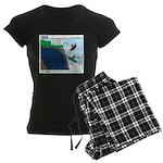Kayaking Adventure Women's Dark Pajamas