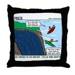 Kayaking Adventure Throw Pillow