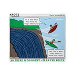 Kayaking Adventure Throw Blanket