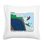 Kayaking Adventure Square Canvas Pillow