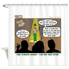 KNOTS Star Shower Curtain