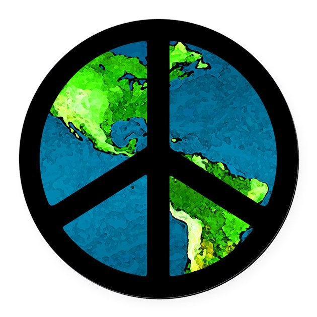 Peace Sign Car Magnet / Peace on Earth by peacefulexpression