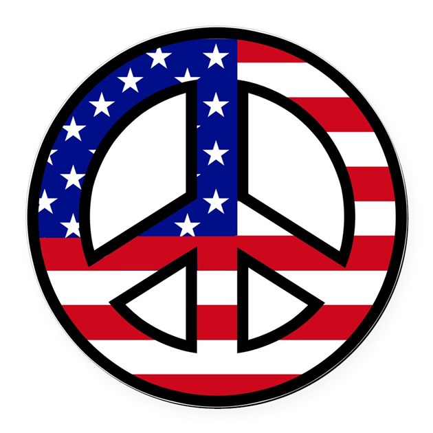 Peace Sign Flag Car Magnet By Peacefulexpression