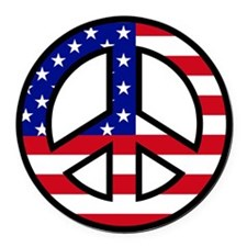 Peace Sign Flag Car Magnet