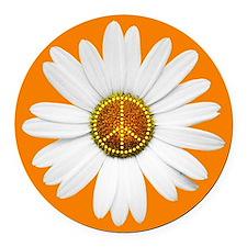 Peace Sign Car Magnet / Peace Daisy