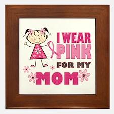 Wear Pink 4 Mom Framed Tile