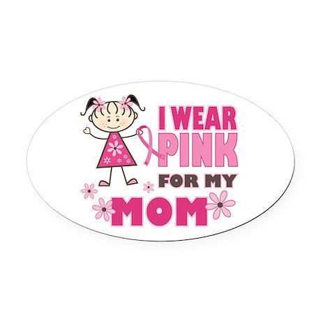 Wear Pink 4 Mom Oval Car Magnet