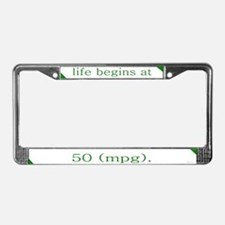 50 MPG License Plate Frame
