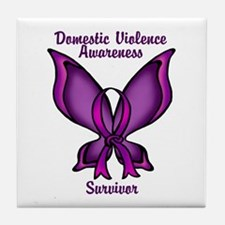 Domestic Violence Awareness Purple Butterfly for S