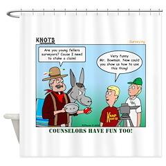 Surveying Shower Curtain