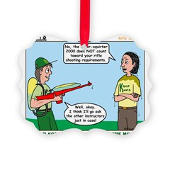 Rifle Shooting Ornament