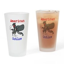 american outlaw Drinking Glass