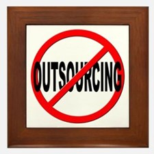 Anti / No Outsourcing Framed Tile