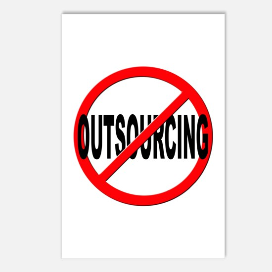 Anti / No Outsourcing Postcards (Package of 8)