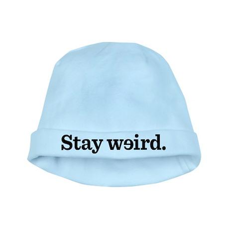 Stay Weird baby hat