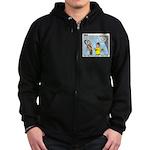 Model Building Zip Hoodie (dark)