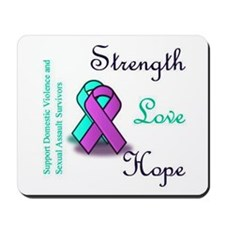 Stop Domestic Violence and Sexual Assault Mousepad