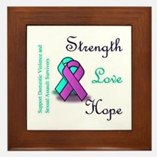 Stop Domestic Violence and Sexual Assault Framed T