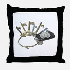 Keys and Police Badge Throw Pillow