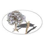Taking Money from Money Tree Sticker (Oval 10 pk)
