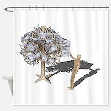 Taking Money from Money Tree Shower Curtain