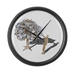 Taking Money from Money Tree Large Wall Clock