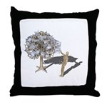 Taking Money from Money Tree Throw Pillow