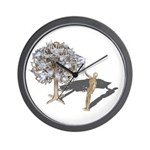 Taking Money from Money Tree Wall Clock