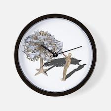 Taking Money from Money Tree Wall Clock