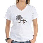 Taking Money from Money Tree Women's V-Neck T-Shir