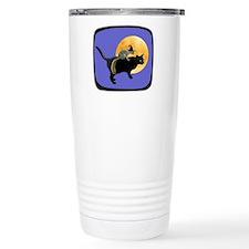 Witch Squirrel Cat Blue Travel Mug