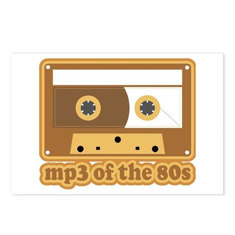 mp3 of the 80s Postcards (Package of 8)