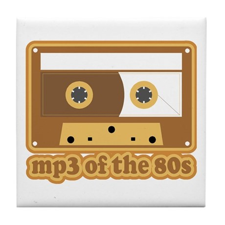 mp3 of the 80s Tile Coaster