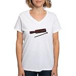 RythmStick070112.png Women's V-Neck T-Shirt