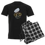 Sailor Hat and Propeller Men's Dark Pajamas
